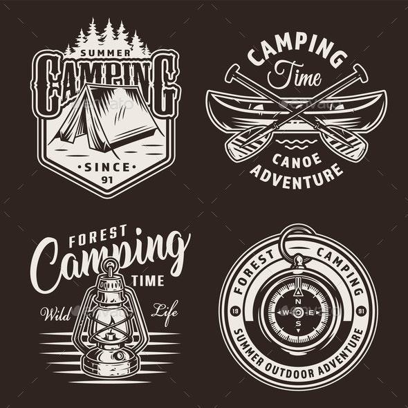 Vintage Camping Prints - Miscellaneous Vectors