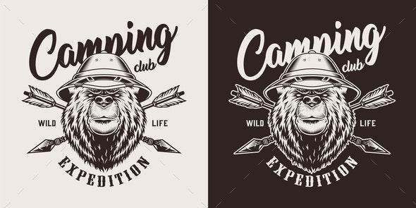 Vintage Camping Label - Miscellaneous Vectors