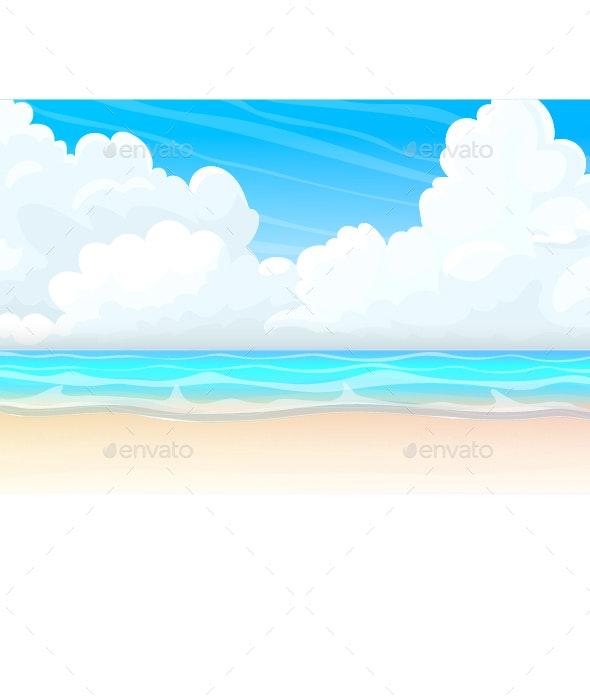Cartoon Seascape - Landscapes Nature