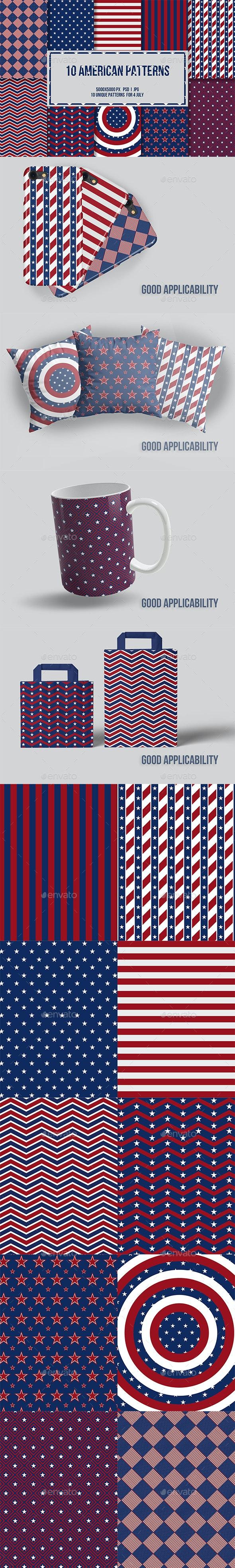4 July 10 American Patterns - Patterns Backgrounds