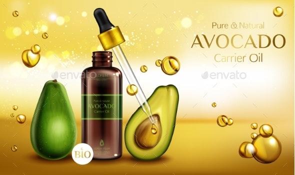 Avocado Cosmetics Oil - Health/Medicine Conceptual