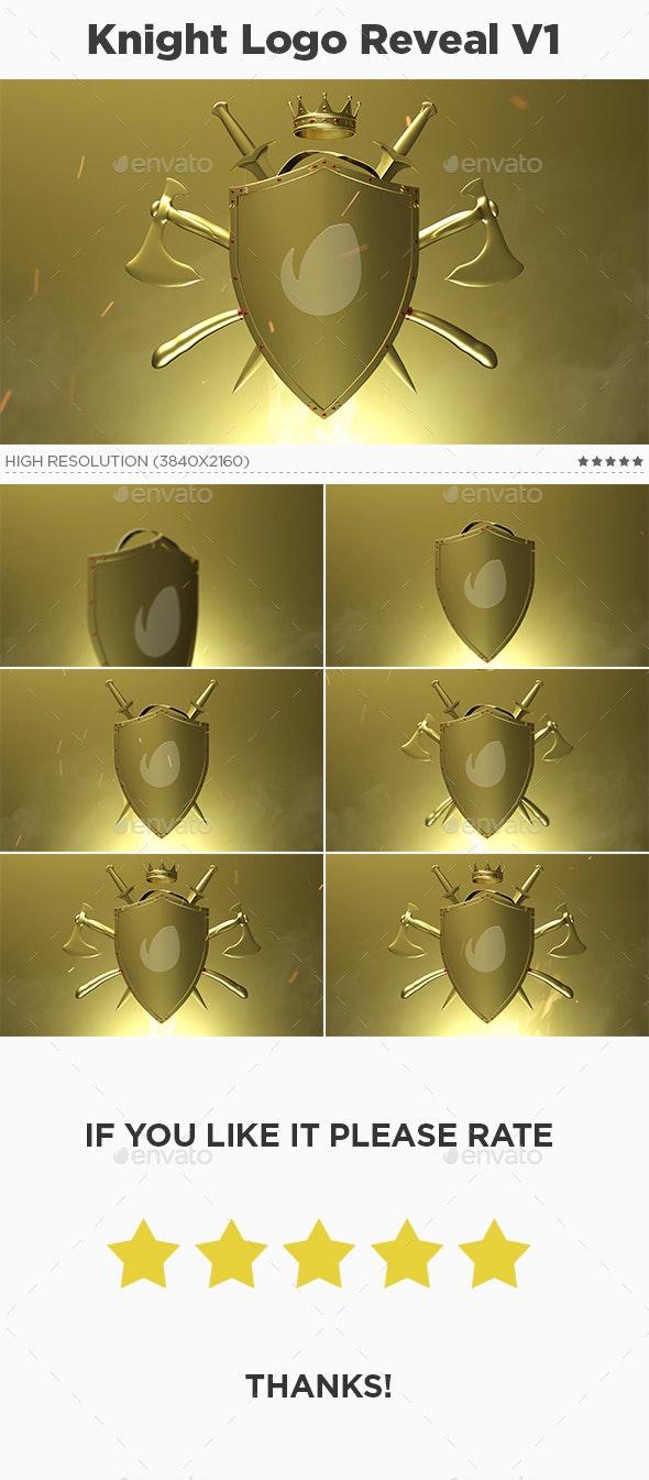 Knight Logo Animation Reveal Intro V1 - Logo Product Mock-Ups