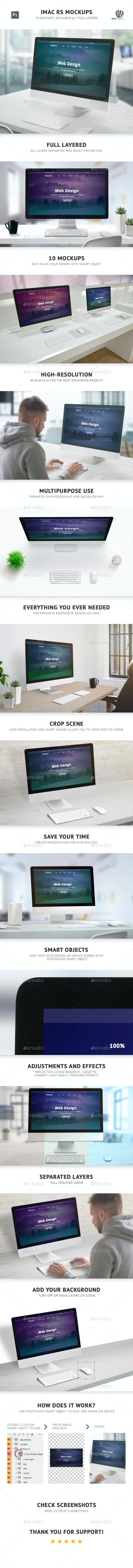iMac RS Mockups - Monitors Displays