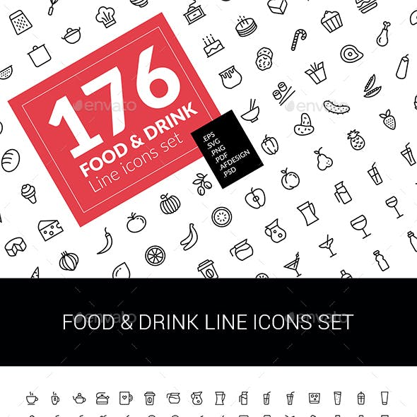 Food & Drink Icons Set