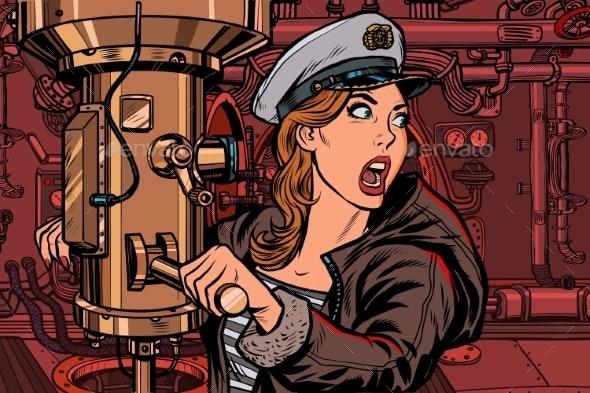 Submarine Captain Battle Alert - People Characters