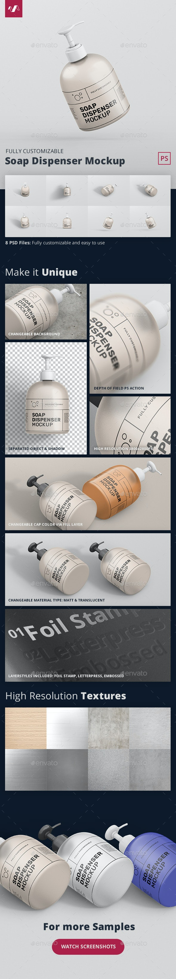 Soap Dispenser Mockup - Miscellaneous Packaging