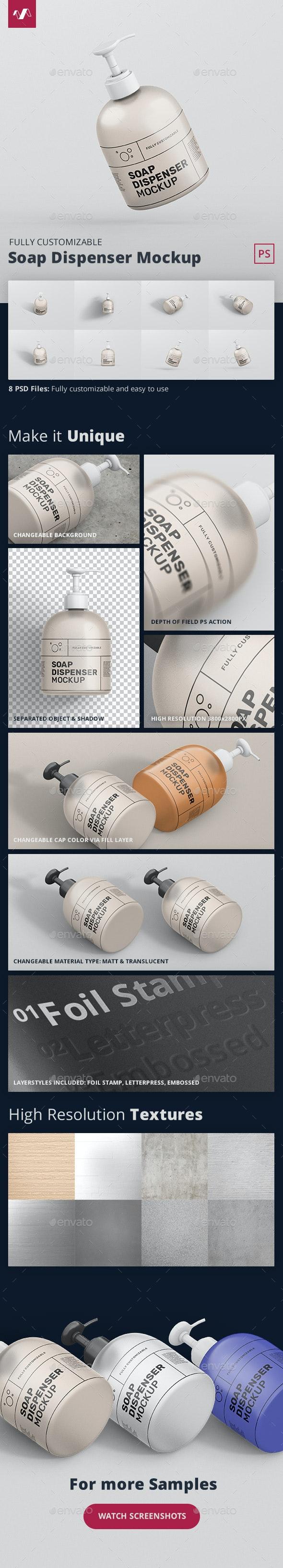 Soap Dispenser Mockup - Miscellaneous Packaging