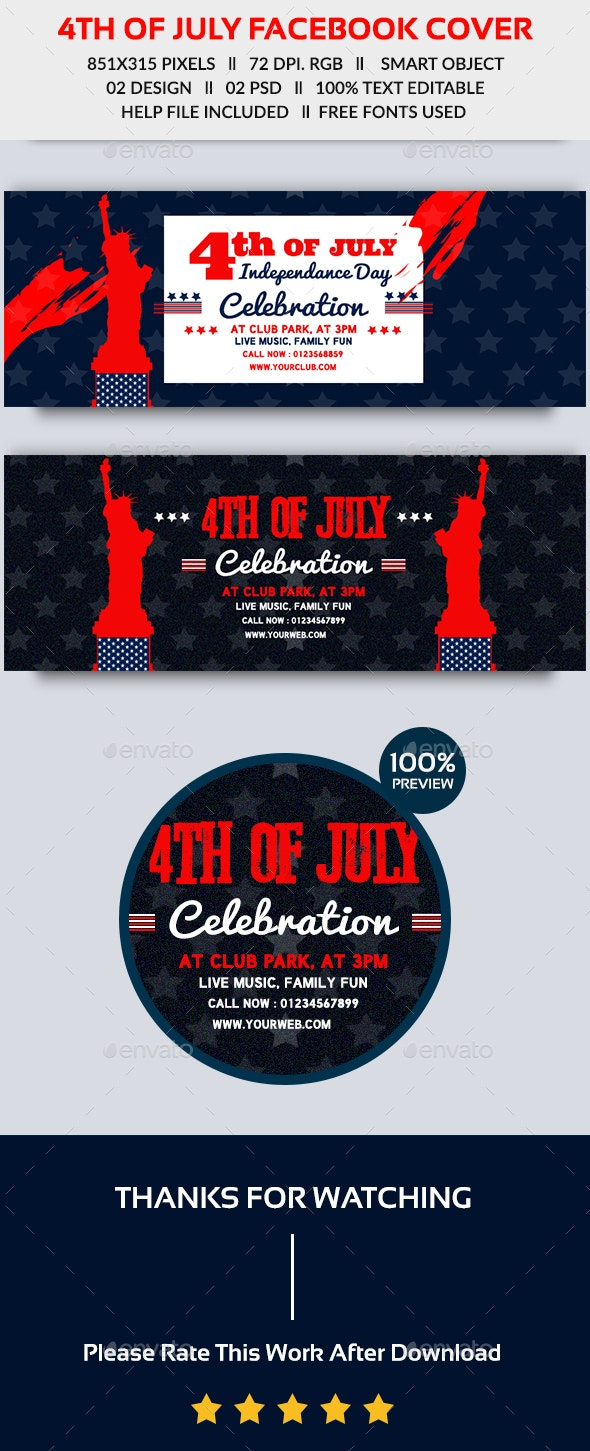 4th of July Facebook Cover - Facebook Timeline Covers Social Media