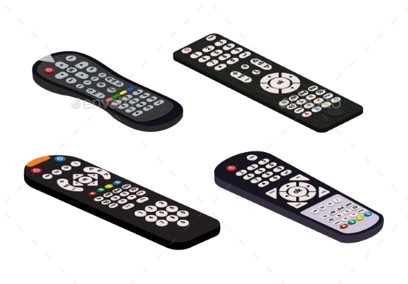Remote Control TV Vector Remote Controller - Man-made Objects Objects