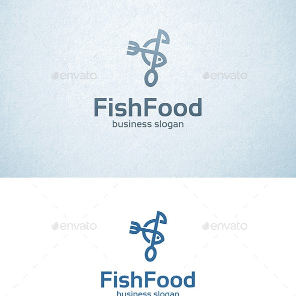 Fish Food Fork and Spoon Logo