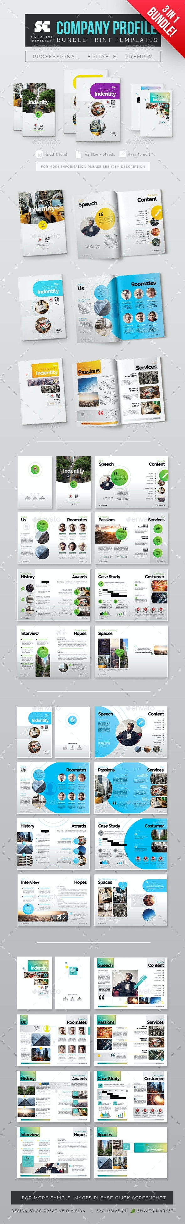 Company Profile Bundle 3 In 1 - Corporate Brochures