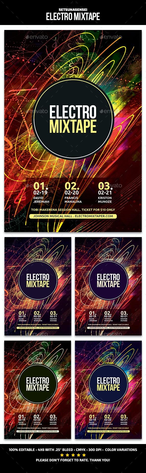 Electro Mixtape - Events Flyers