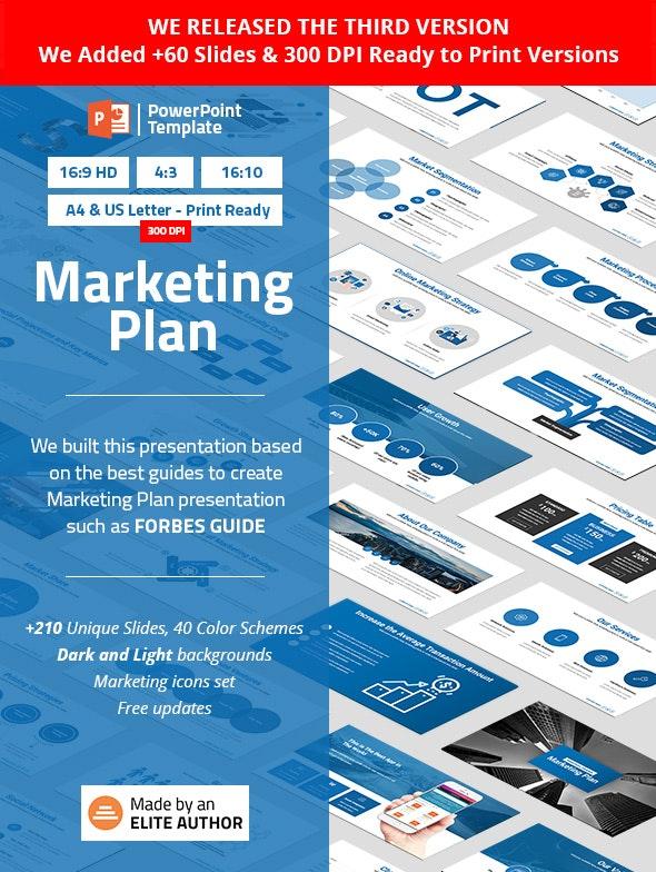 Marketing Plan PowerPoint Presentation Template by Spriteit