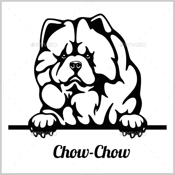 Chow Chow Peeking Dogs - Animals Characters