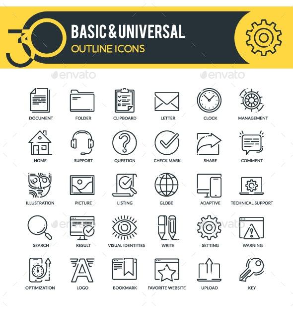Basic Web Icons - Web Icons