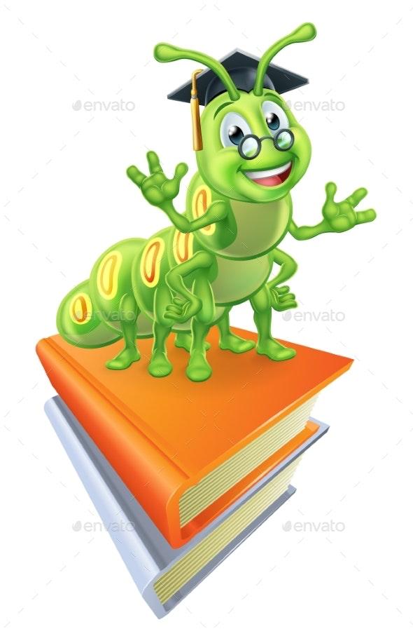 Books and Bookworm - Miscellaneous Vectors