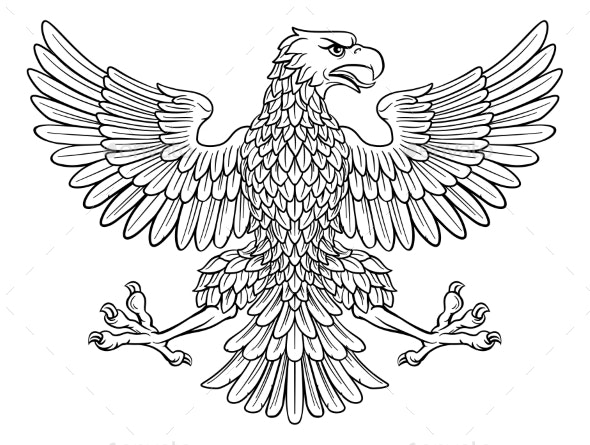 Eagle Imperial Heraldic Symbol - Animals Characters