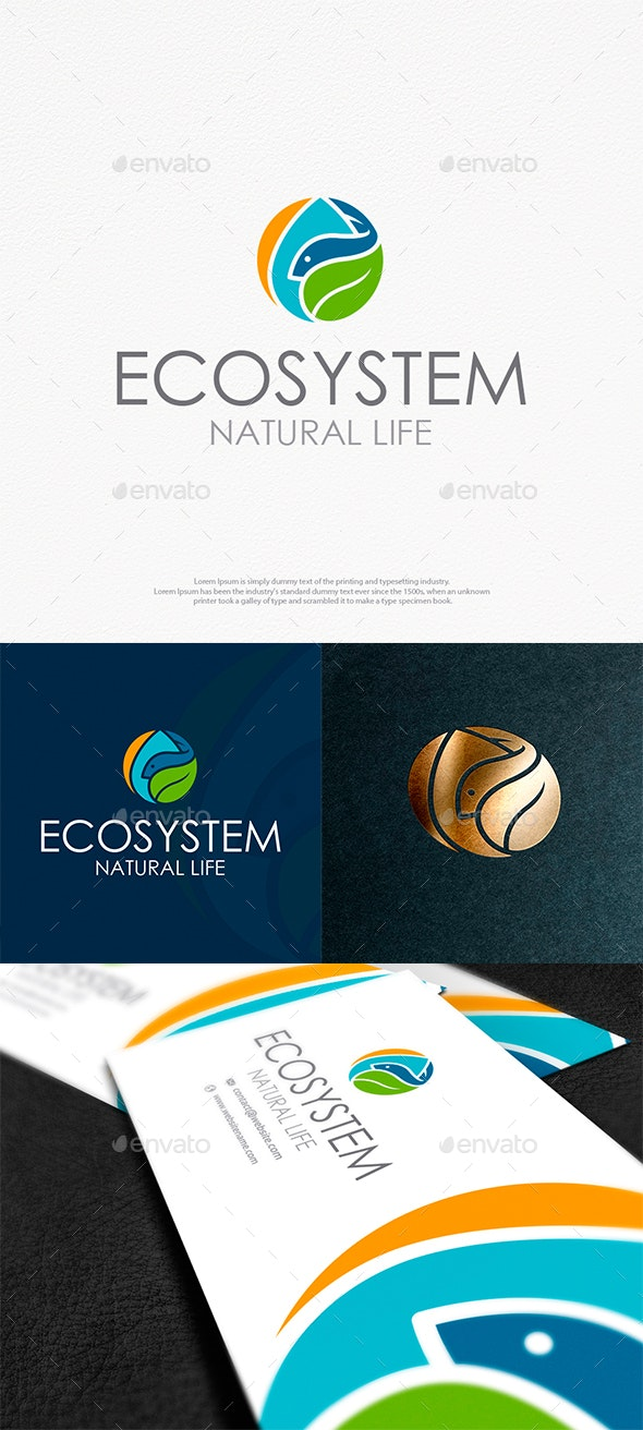 Natural Ecosystem Logo Template - Nature Logo Templates
