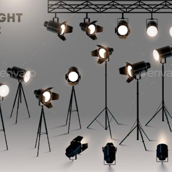 Spotlights Realistic Transparent Background