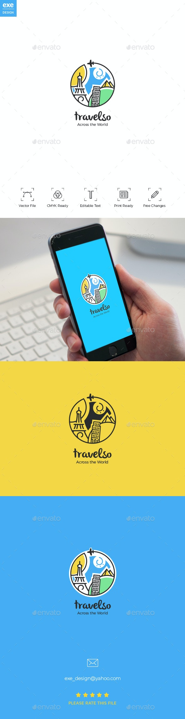 Travel Logo - Vector Abstract
