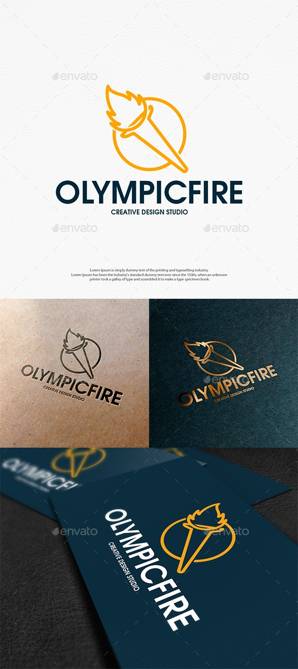 Olympic Flame Logo Template - Vector Abstract