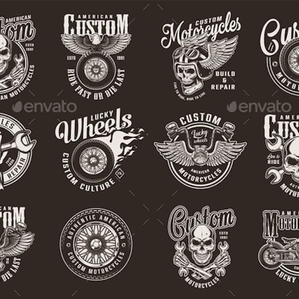Vintage Motorcycle Emblems