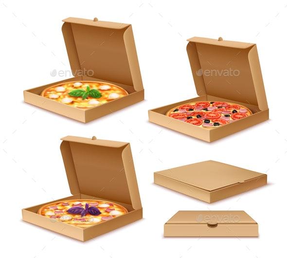 Pizza in Boxes - Miscellaneous Vectors