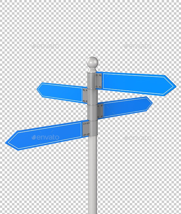 Blank directional road signs - Objects 3D Renders
