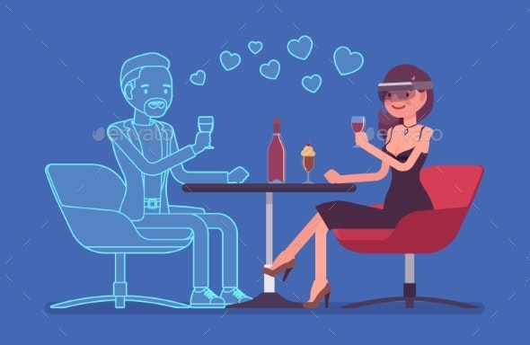 Virtual Date in Restaurant - Computers Technology