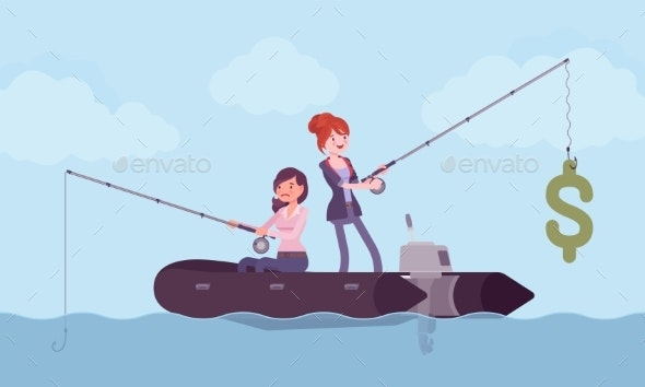 Business Fishing for Money - Concepts Business
