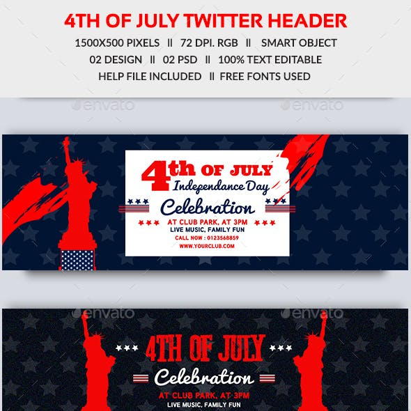 4th of July Twitter Header