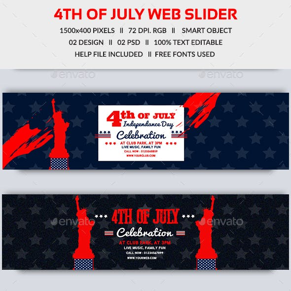 4th of July Web Slider