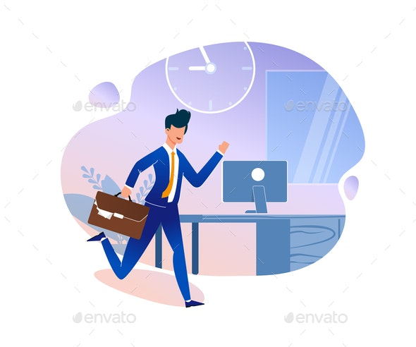 Time Management Strategy Vector Illustration - Concepts Business