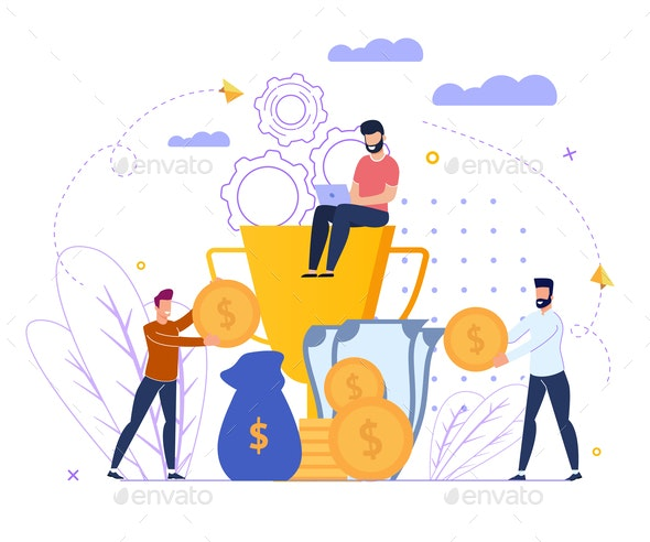 Investment Profit Strategy Vector Illustration - People Characters