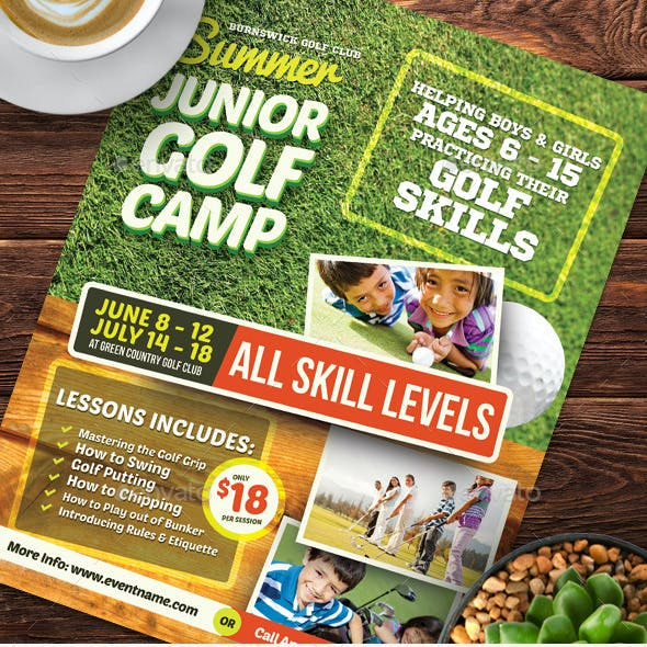 Junior Golf Camp Flyer Templates