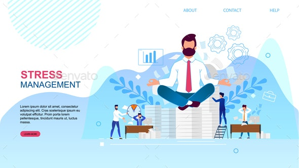 Banner is Written Stress Management Landing Page - Concepts Business