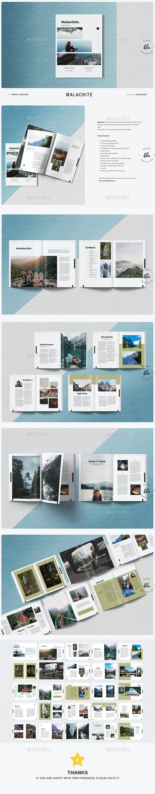 Malachite Magazine - Magazines Print Templates