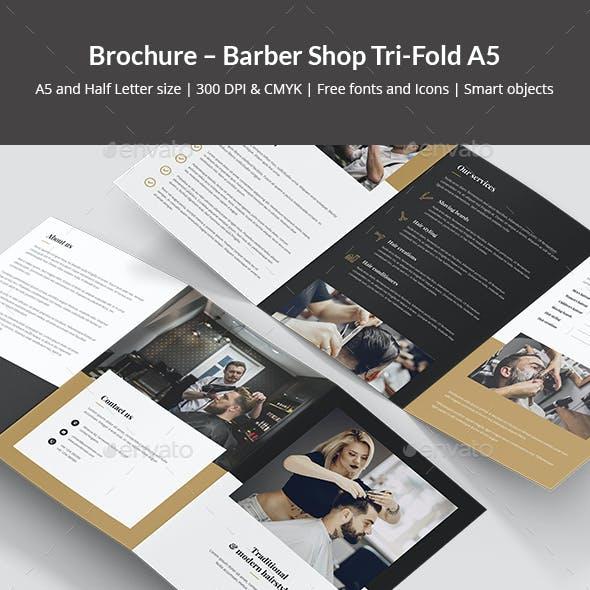 Brochure – Barber Shop Tri-Fold A5