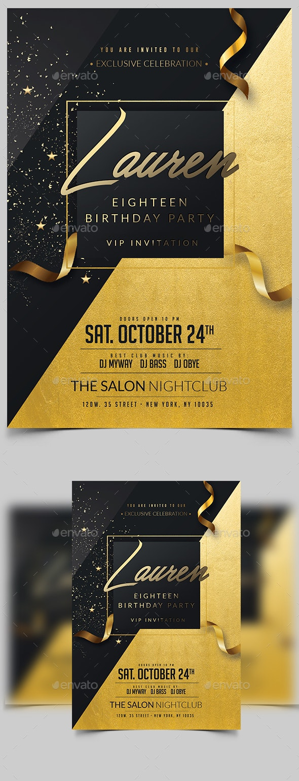 Birthday Invitation by madridnyc | GraphicRiver