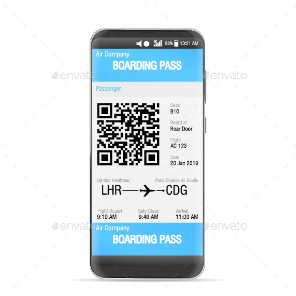 Boarding Pass Mobile - Concepts Business