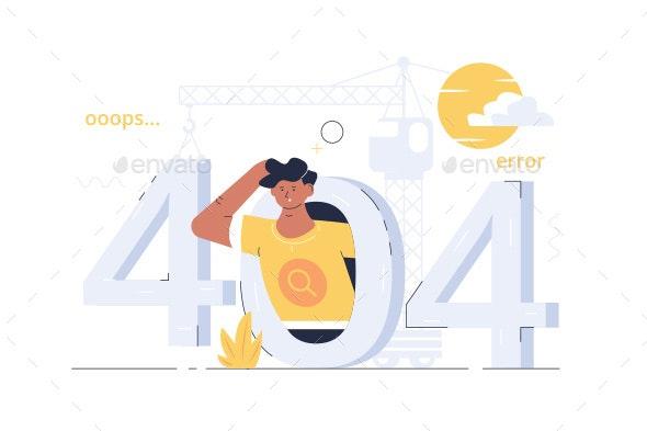 404 Ooops Error - Web Technology