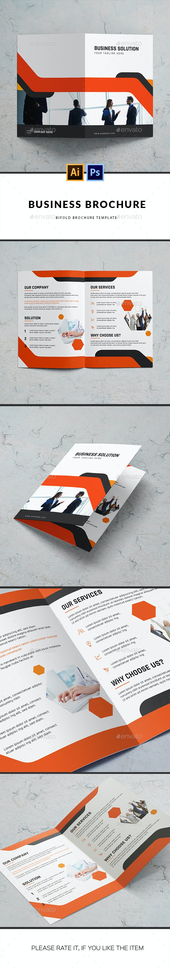 Business Solution Brochure Template - Corporate Brochures
