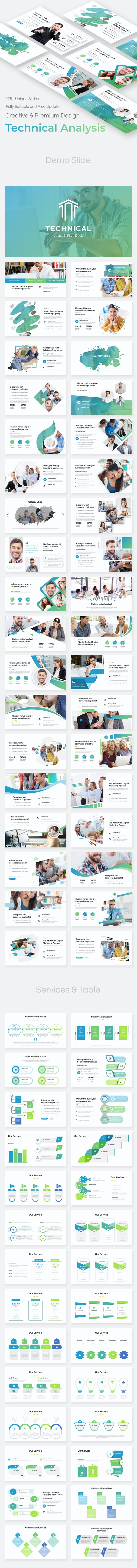 Technical Analysis Pitch Deck Powerpoint Template - Business PowerPoint Templates