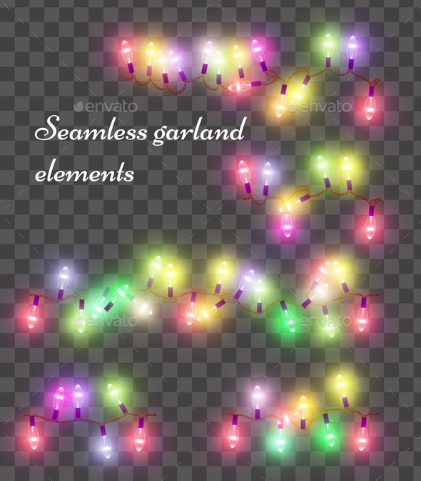 Christmas Holiday Colorful Light Garland - Miscellaneous Vectors