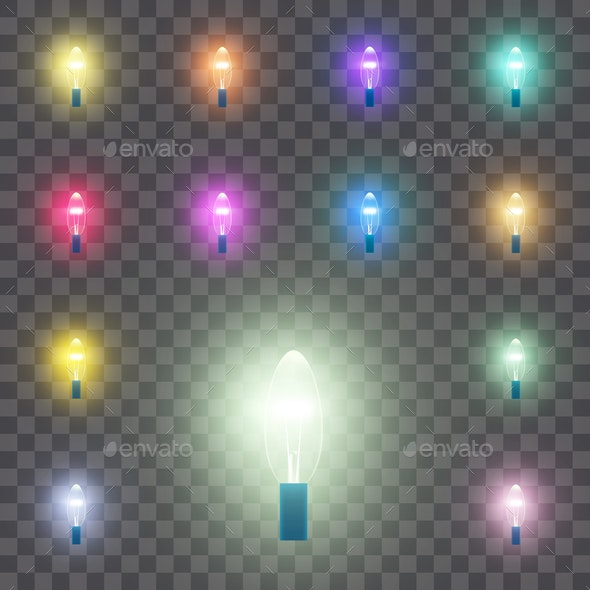 Set of LED Lamps - Man-made Objects Objects