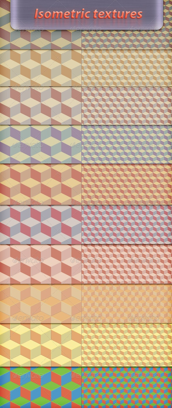 Isometric Background - Abstract Textures
