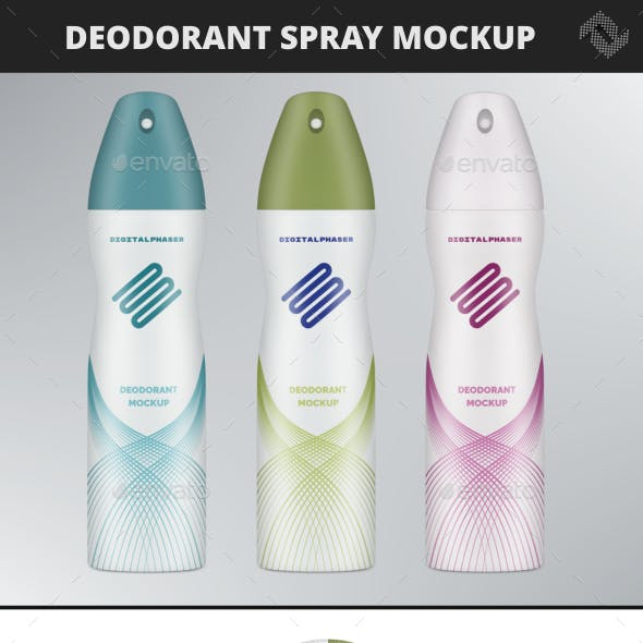 Deodorant Spray Mockup