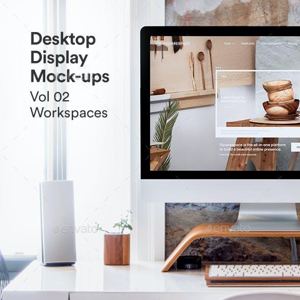 Desktop Monitor Mockup Psd Vol 02