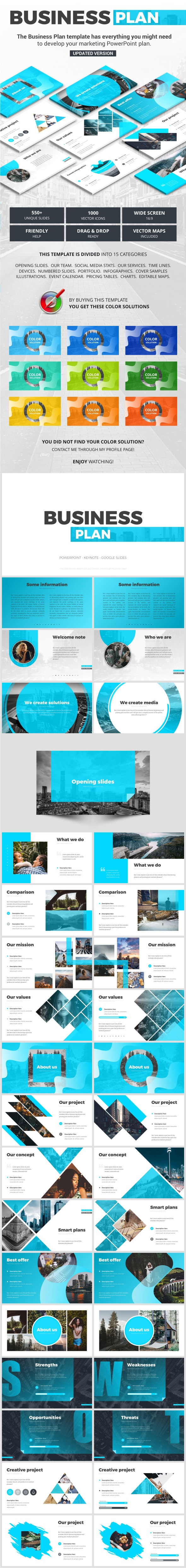 Business Plan - Business PowerPoint Templates