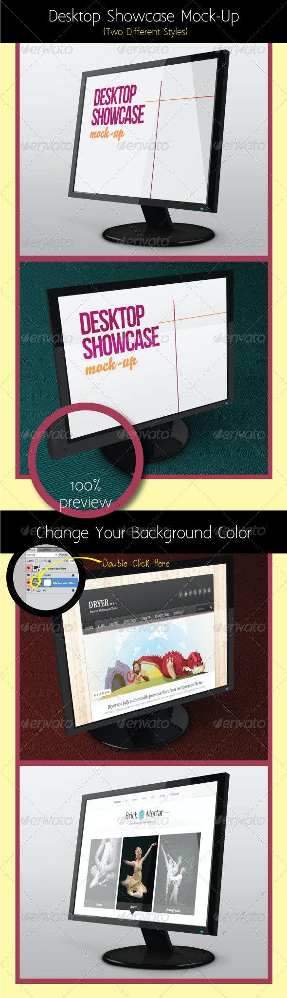Desktop Showcase Mock-Up - Monitors Displays